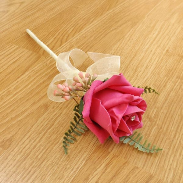 bright pink flower girl wand