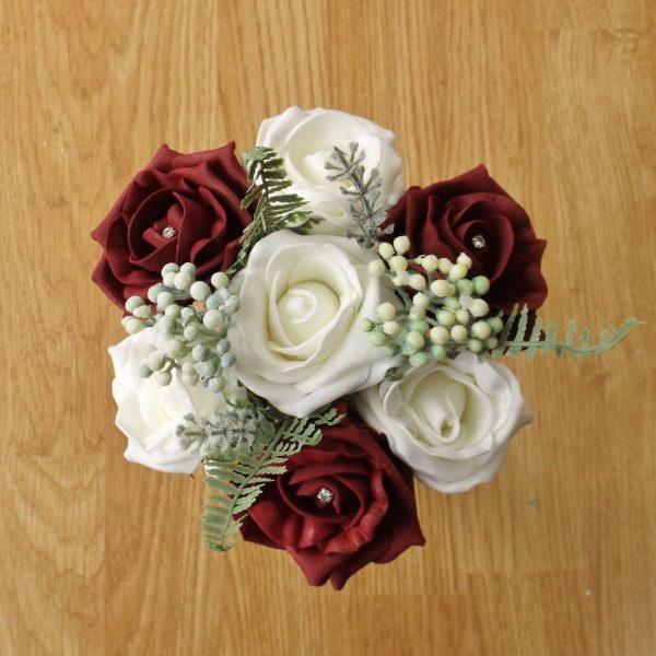 burgundy rose child bouquet