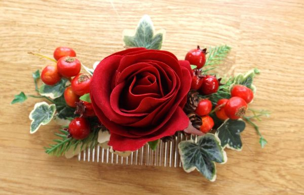Christmas hair comb