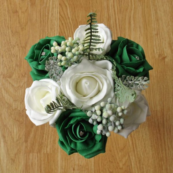 emerald green rose child bouquet