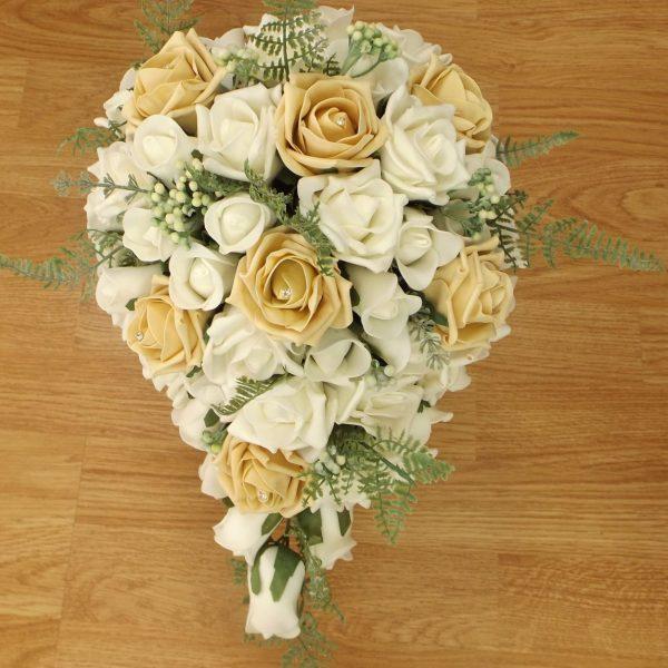 gold fern rose brides shower