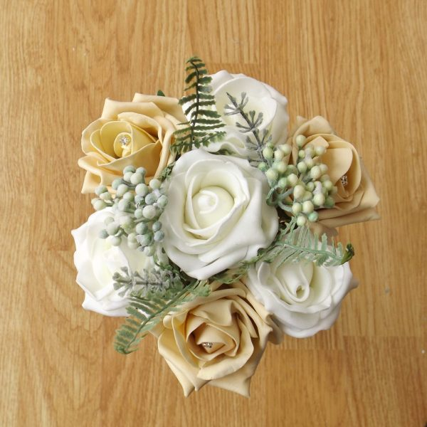 gold rose child bouquet
