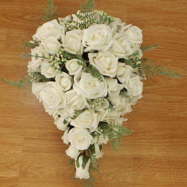 ivory fern rose brides shower