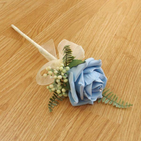 light blue flower girl wand