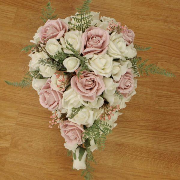light pink fern rose brides shower