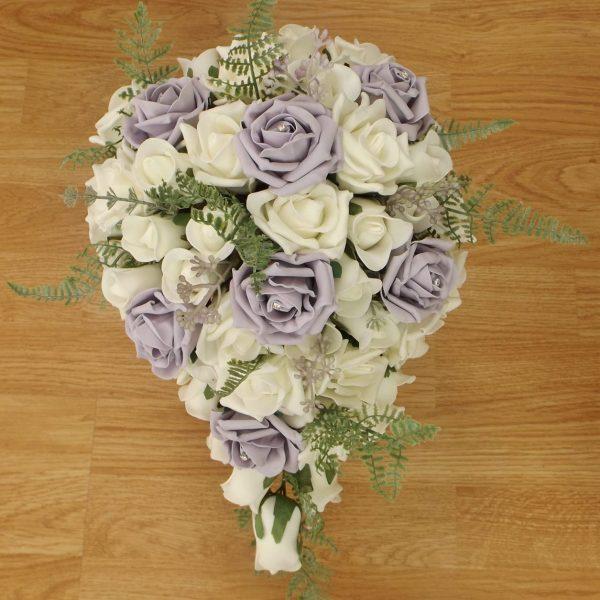 lilac fern rose brides shower
