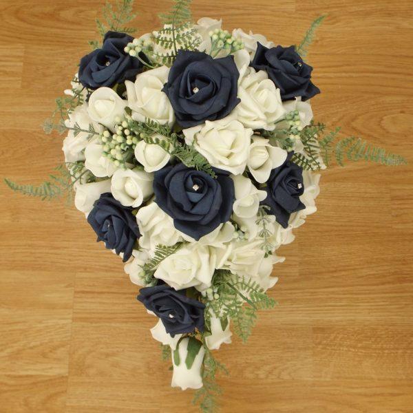navy fern brides bouquets