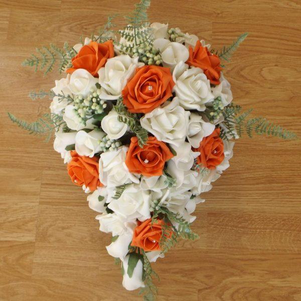 orange fern brides shower