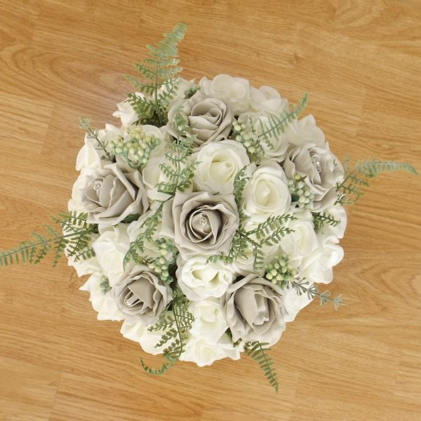 silver fern rose brides bouquet
