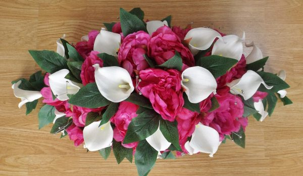 Pink Peony & Calla Lily Table Arrangement
