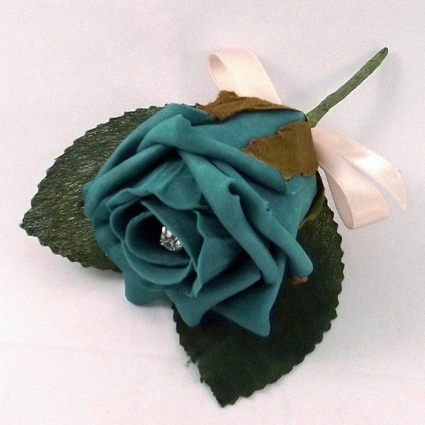 teal buttonhole