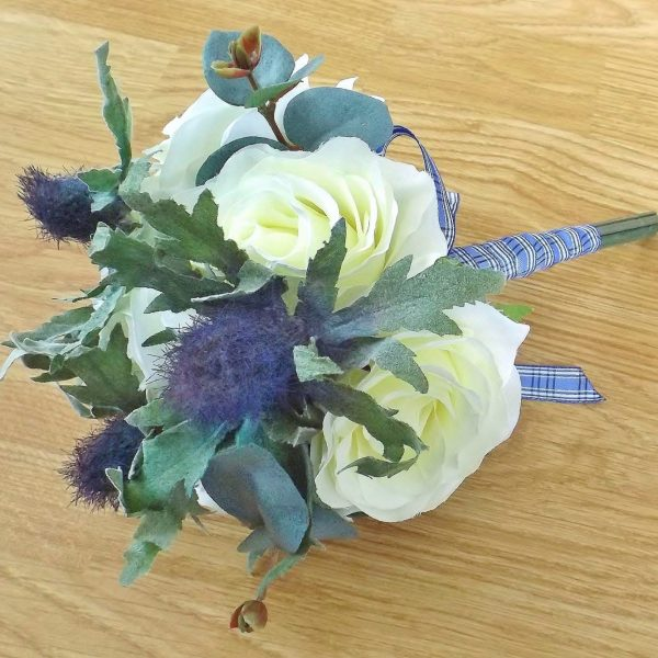 Thistle & Ivory Silk Bridesmaid Bouquet