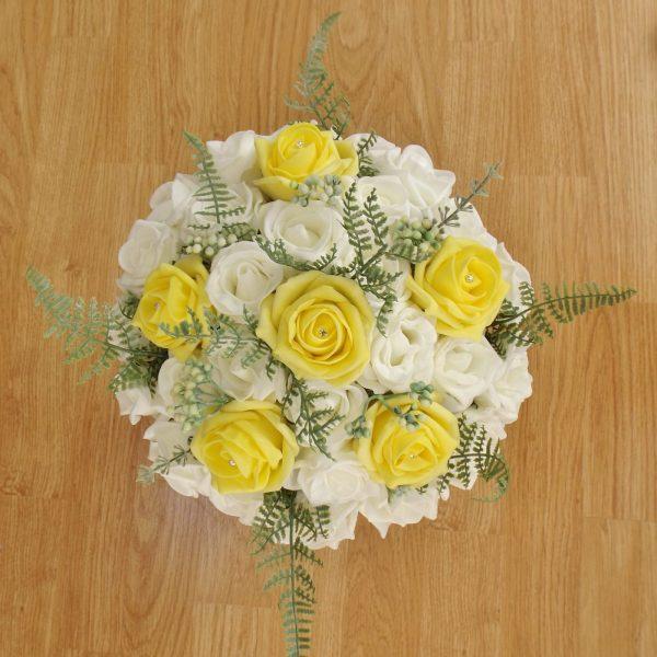 fern rose brides bouquet