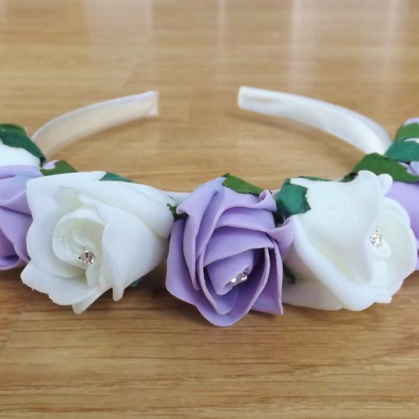 lilac rose hairband