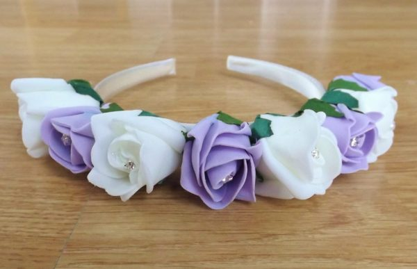 lilac rose hairband