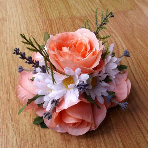 peach rose cake topper
