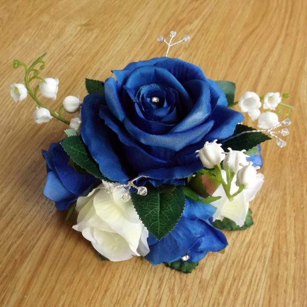royal blue cake topper