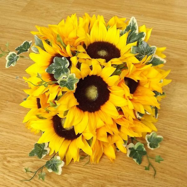silk sunflower table centrepiece