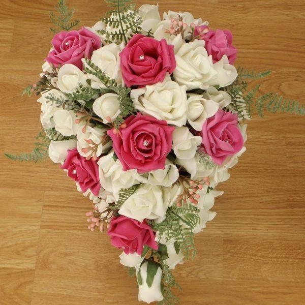 bright pink fern brides shower
