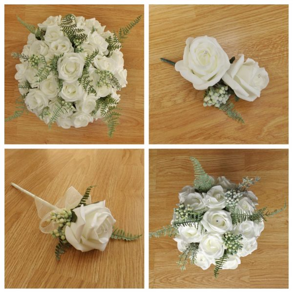 ivory artificial flower collection