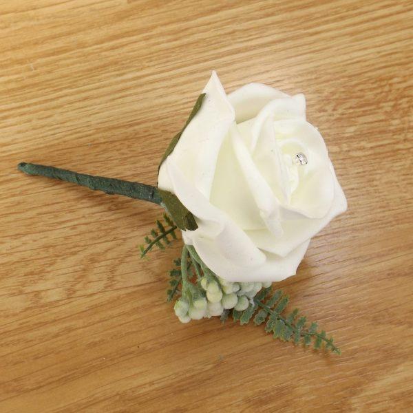 ivory fern buttonhole