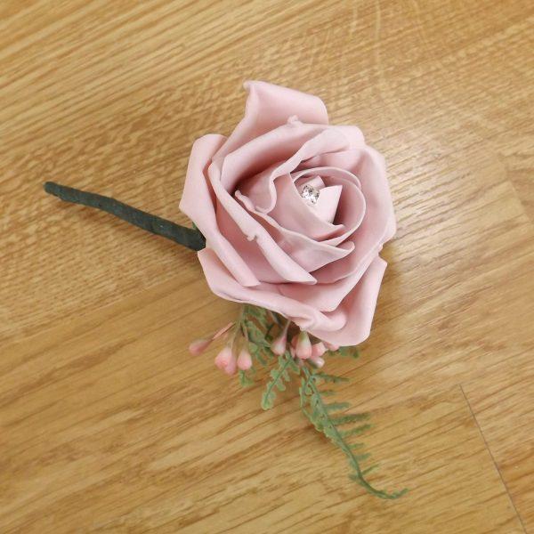 light pink fern buttonhole
