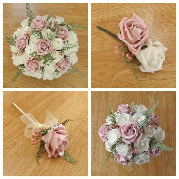 light pink artificial flower collection