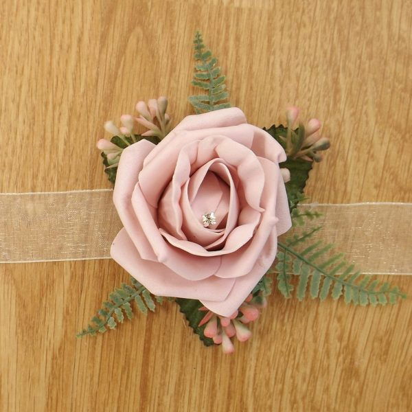 light pink rose wrist corsage