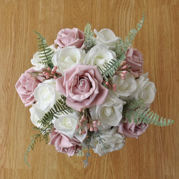 light pink artificial bridesmaid bouquet