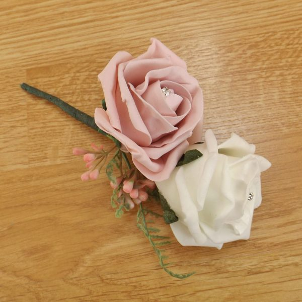 light pink fern corsage