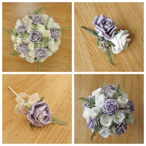 lilac artificial flower collection