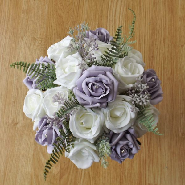 lilac foliage bridesmaid bouquet