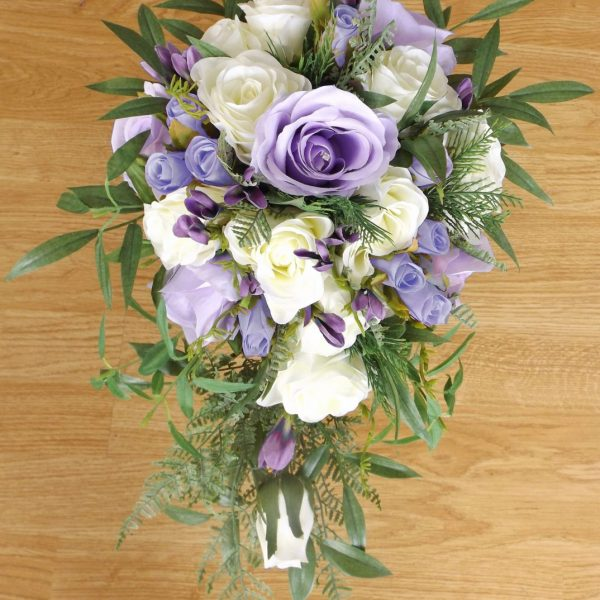 lilac & ivory silk brides shower