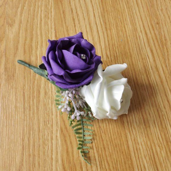 purple fern corsage