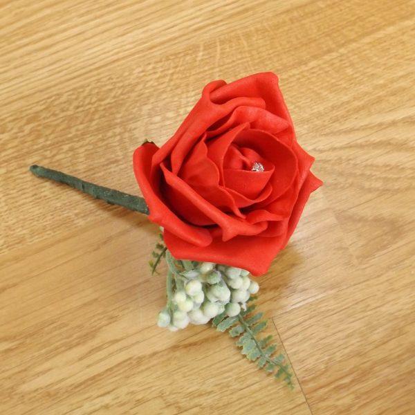 red fern buttonhole