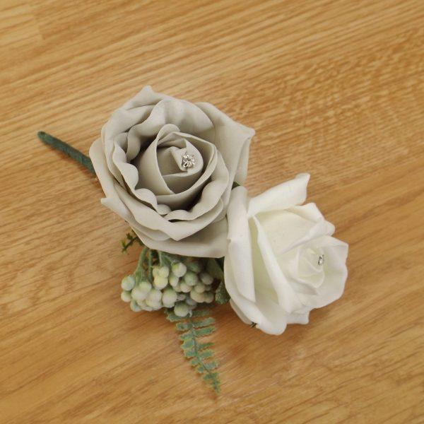 silver fern corsage