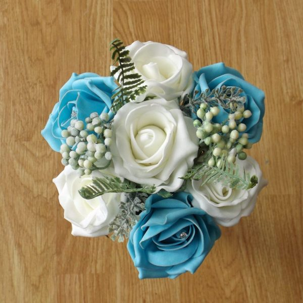 turquoise rose child bouquet
