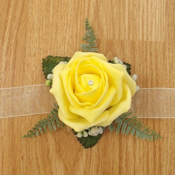 yellow rose wrist corsage