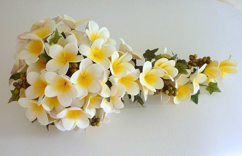 Artificial Frangipani Brides Shower Bouquet