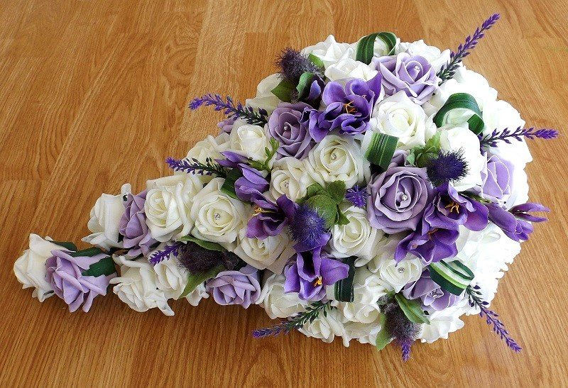 Lilac and thistle artificial brides shower