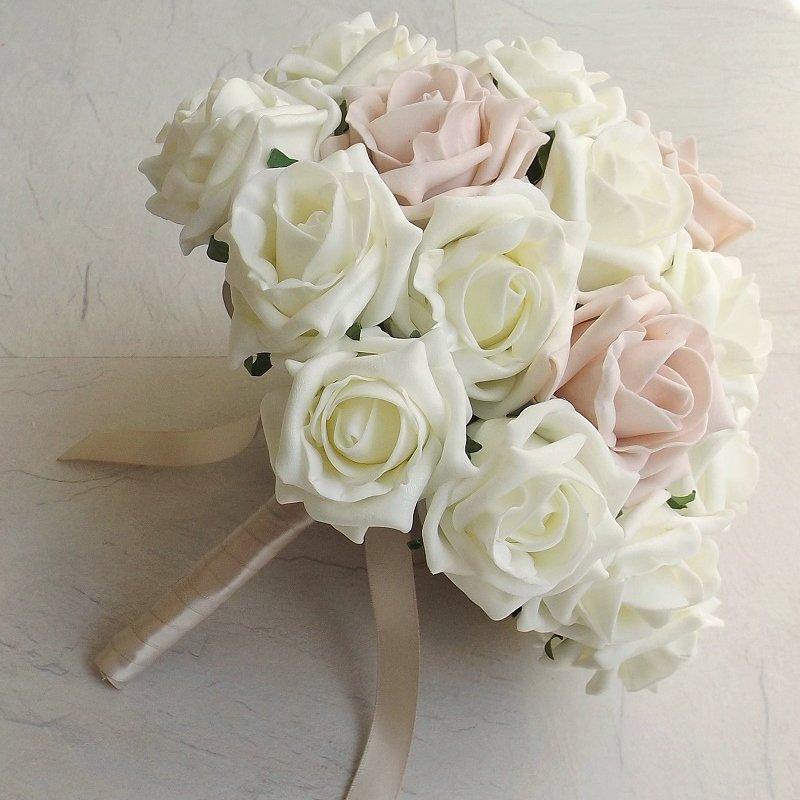 Mocha Pink Foam Rose Brides Bouquet