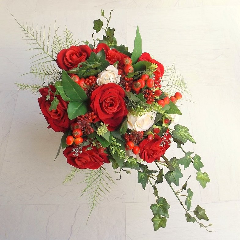 Red Silk Rose & Berry Brides Shower