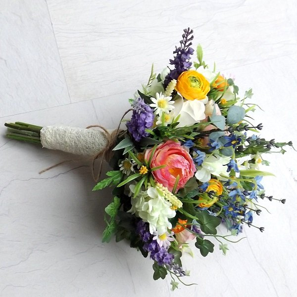 Silk Wildflower Brides Bouquet