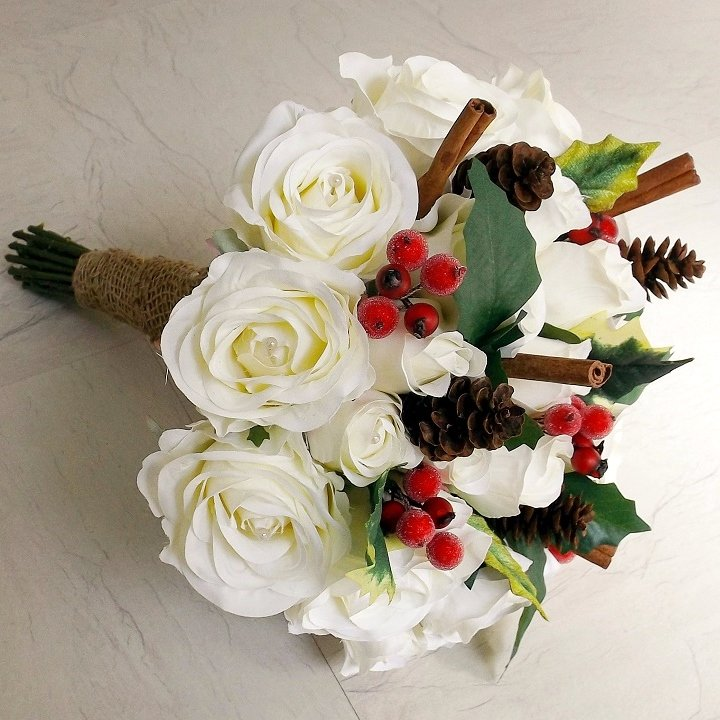 Christmas Berry Brides Bouquet